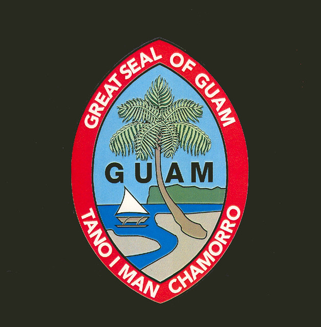 guam seal and flag