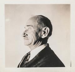 Profile portrait of an elderly man