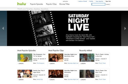 hulu.com | Hulu.com is going live. I've been part of the ...