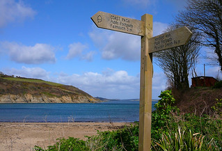 Signpost on the South West Coast Path | by Tim Green aka atoach
