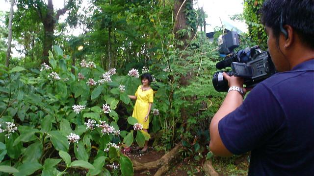 at her garden