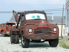The truck that inspired Tomator in Cars the movie, Route 66 Galena Kansas