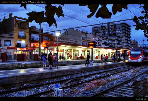 Estacio ferrocarril Calella (Maresme)