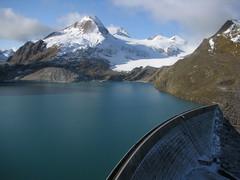 XXXX Reise durch die Schweiz : Griessee und Bättelmatthorn im Kanton Wallis in der Schweiz