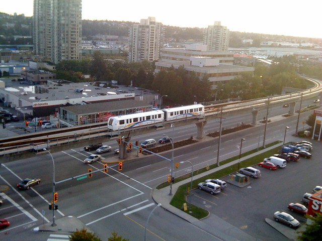SkyTrain headed towards Gilmore Station