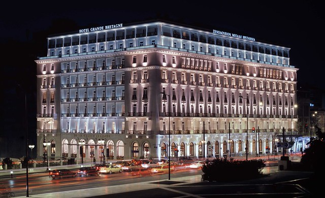 Exterior Night, Hotel Grande Bretagne
