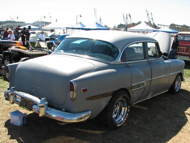 1954 chevrolet bel air 4 door sedan custom 39 dxx 374 39 3 for 1954 chevy belair 4 door
