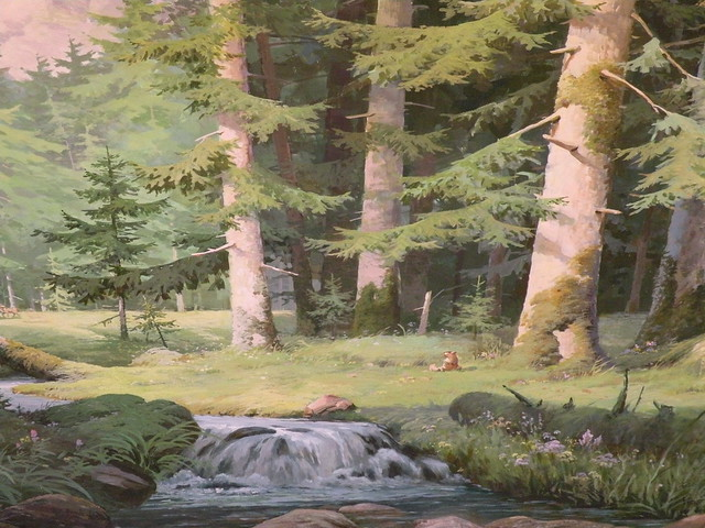 wall mural forest scene flickr photo sharing