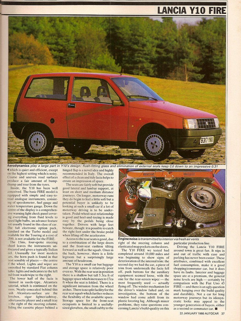 Triggers retro road testss most interesting flickr photos picssr lancia y10 fire road test 1986 3 vanachro Choice Image
