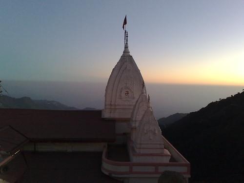 sunset india temple dusk mussoorie