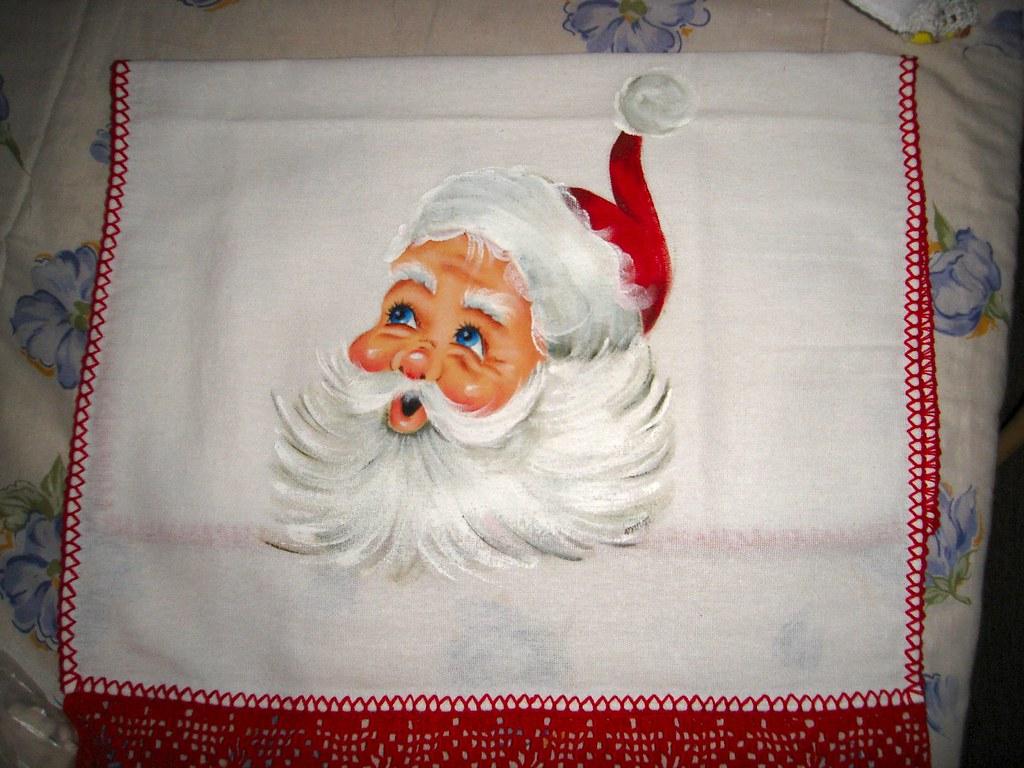 Papai Noel - pintura tecido