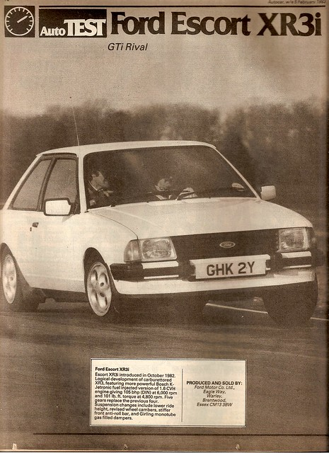 Ford Escort XR3i Mk3 Test 1983 1