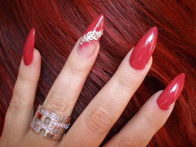 Nail Art Strass Rot Stiletto | Flickr - Photo Sharing!