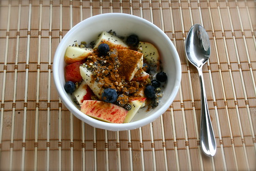 fruit bowl with chia goodness