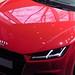 2014 Weltpremiere Audi TT Coupe 2.0 TFSI quattro S tronic 169 kW Tangorot Vorderansicht Ausschnitt by Kickaffe
