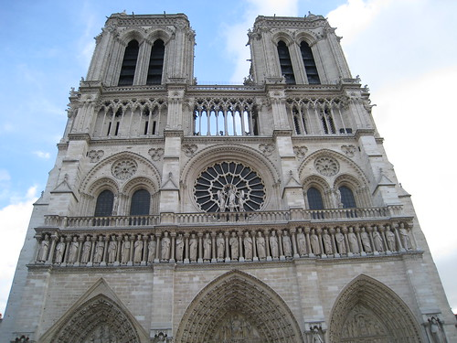 The towering Notre-Dame Cathedral