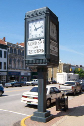 Madison Bank clock