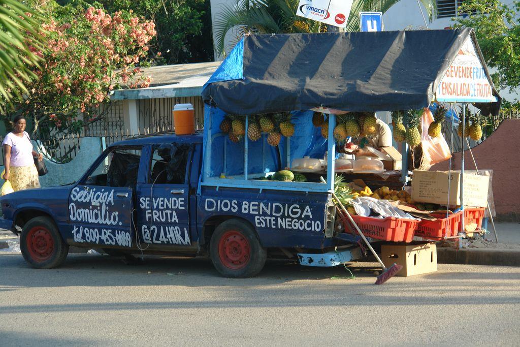 Puesto ambulante de venta de frutas Samaná, una península en el Paraíso - 2526698135 3aea6b02d0 o - Samaná, una península en el Paraíso