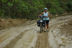 Mudholes everywhere, climbing up from Namballe to San Ignacio