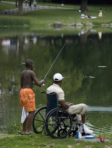 Harlem Meer fishermen