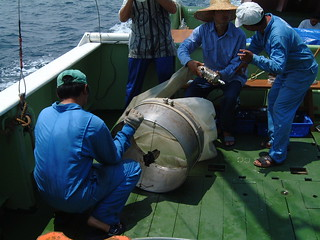 Plankton net to study the marine productivity in Malacca Straits