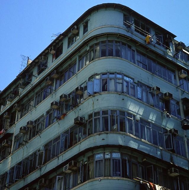 Old Building In 60s. @Yau Ma Tei, Hong Kong