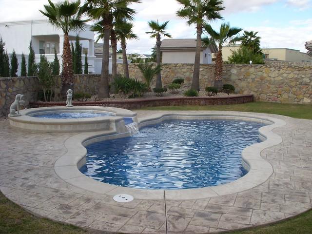 Laguna 11a viking pools free form advanced pool for Pool design el paso tx