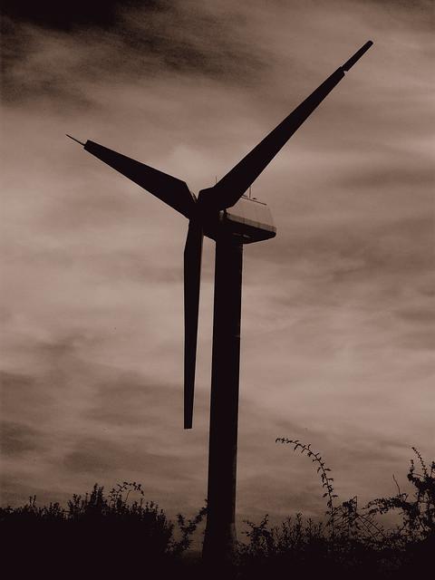 Derelict wind turbine
