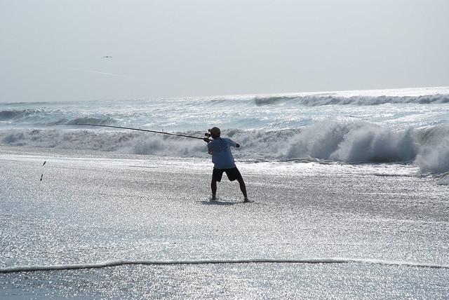 Morning surf fishing flickr photo sharing for North carolina surf fishing license