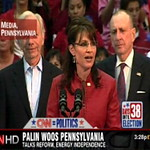 Arlen Specter campaigning for Palin