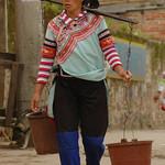 Woman Hauling Water - Yuanyang, China