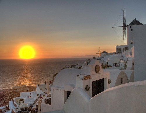 sunset sea sun sol landscape mar hellas paisaje santorini greece grecia puestadesol hdr oia blueribbonwinner 9xp landscapesofvillagesandfields jordimuñozquiñones