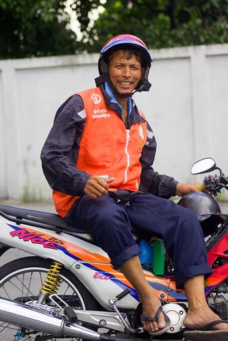 Bangkok Motorcycle Taxi Driver