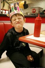 nick, having the birthday dinner of his dreams    MG…