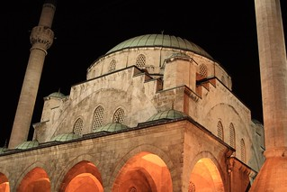 Large mosque in Ankara,Turkey at night