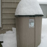 Trash Can Snow Gauge