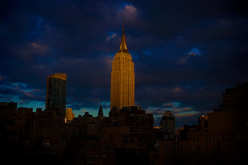 Empire State Storm - Sun Above the City : Midtown : NYC