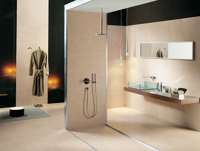 Carrelage salle de bain espace ivoire novoceram - Carrelage salle de bain original ...