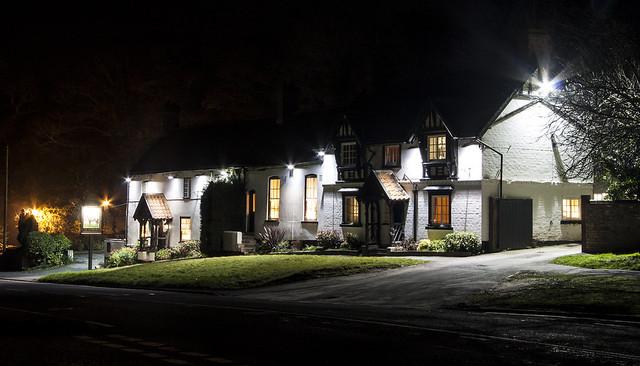 Bishop Burton at night - The Altisidora Pub