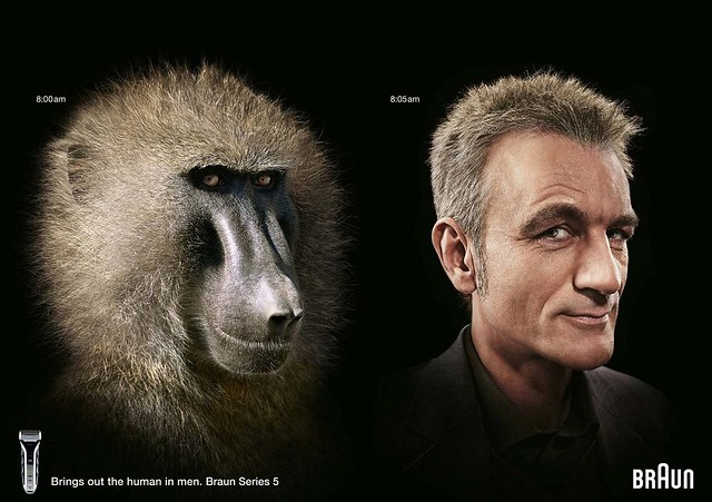 Shaved Primates Become Human In Braun Campaign