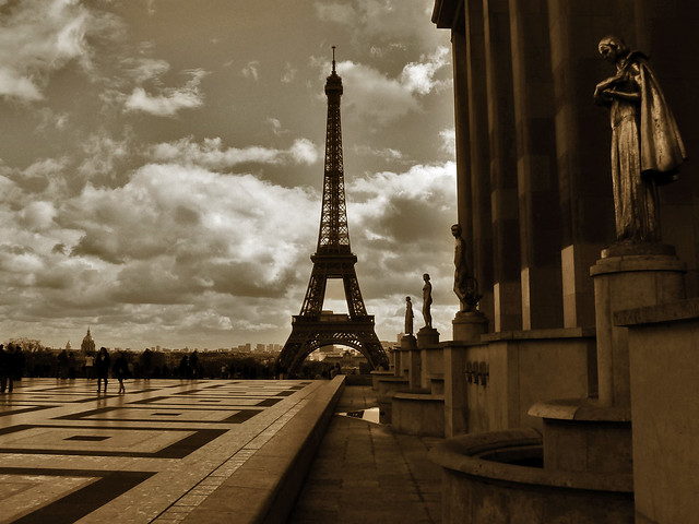 Eiffel Tower from Palais de Chaillot.-