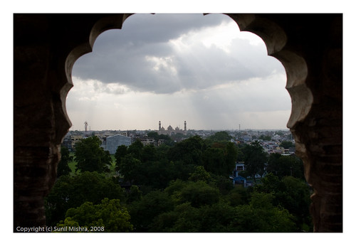 india monument skyline landscape arch charbagh lucknow lightbeam uttarpradesh badaimambara