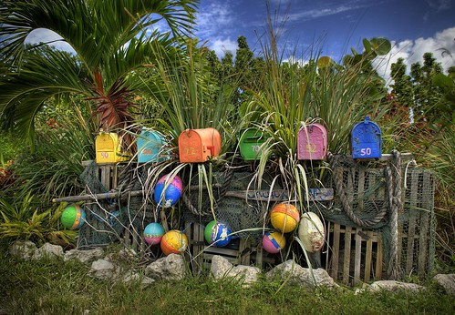 color colorful mailboxes palmtree tropical ropes keywest pick nets buoys hdr donotcopy tropicalmailboxes copyrightabibellphotography