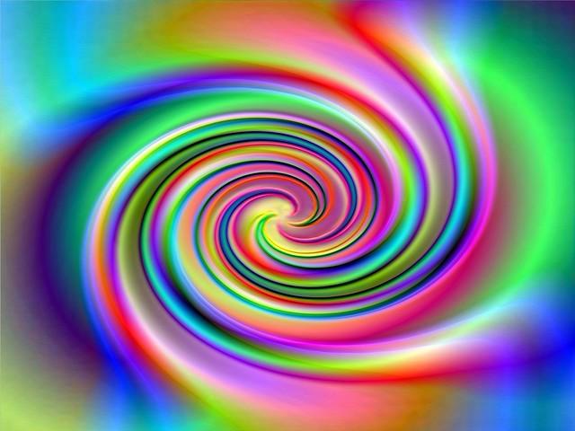 Dynamic colour spiral
