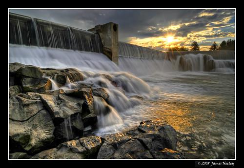 sunrise landscape waterfall nikon searchthebest idaho snakeriver hdr idahofalls d300 photomatix 5xp jamesneeley