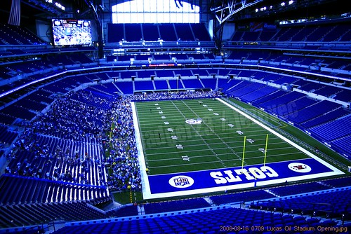 Indianapolis Colts new building 0709 Lucas Oil Stadium Opening
