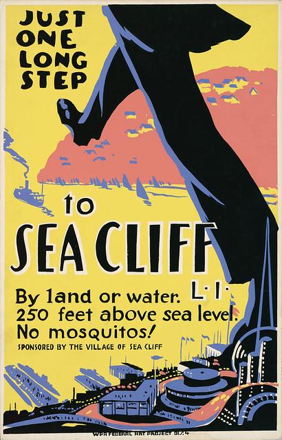 Sea Cliff, Long Island: No mosquitos!, WPA poster, ca. 1939