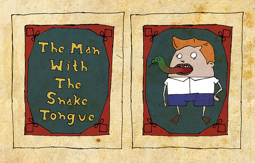 the Man with the Snake tongue