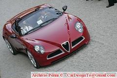 executive car(0.0), race car(1.0), automobile(1.0), alfa romeo(1.0), vehicle(1.0), automotive design(1.0), alfa romeo 8c(1.0), alfa romeo 8c competizione(1.0), land vehicle(1.0), luxury vehicle(1.0), supercar(1.0), sports car(1.0),