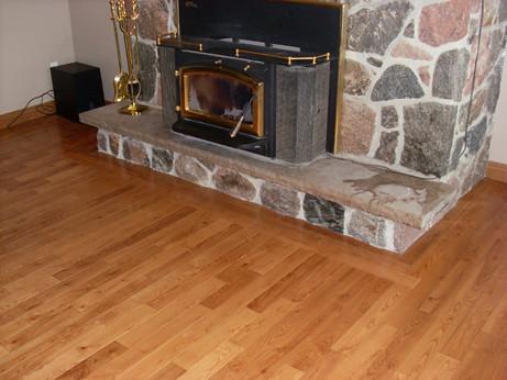 Stone Fireplace Detail Ash Hardwood Colour Honey